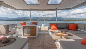 BLACK CAT  Fountaine Pajot Victoria 67' Interior 15