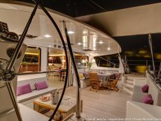 azizam (ex Rose of Jericho) JFA Catamaran 26M Interior 1