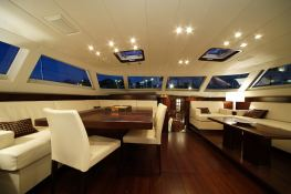 Far and Wide  Southern Wind Sloop 100' Interior 10