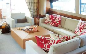 Unforgettable  Ferretti Yacht 830 Interior 2