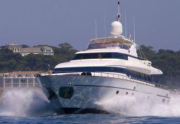 Indulgence of Poole  Overmarine Mangusta 85 Exterior 1