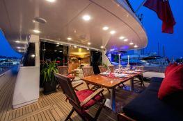 Indulgence of Poole  Overmarine Mangusta 85 Interior 11