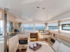 Lagoon 39 catamaran saloon