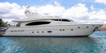 ESTIA YI  Ferretti Yacht 880 Exterior 2