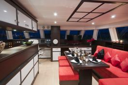 In the Wind  Sunreef Catamaran Sail 58 Interior 1