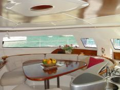 bahia 46 catamaran saloon