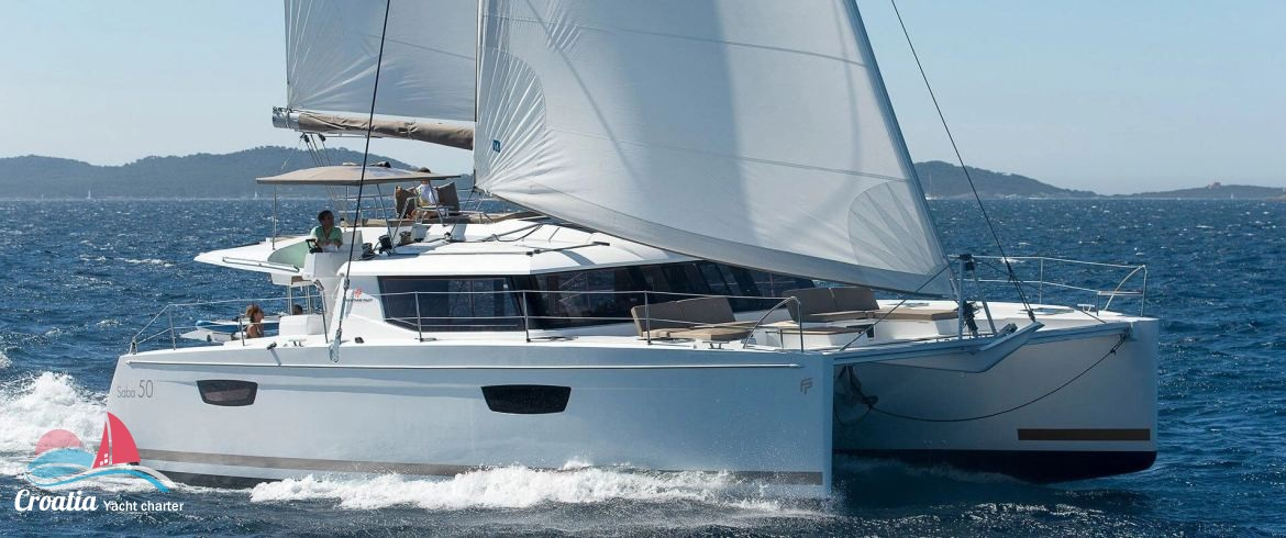Croatia yacht Fountaine Pajot Saba 50