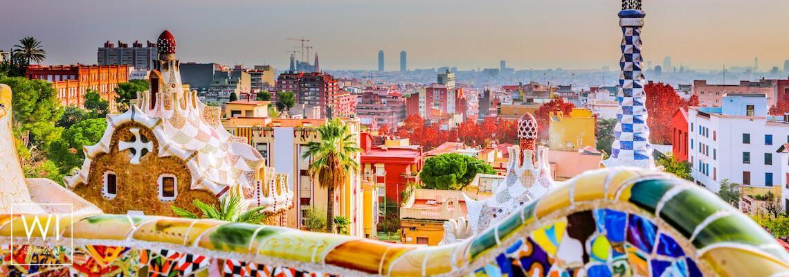 Antoni Gaudi Parc Guell - Barcelone, Espagne - 1